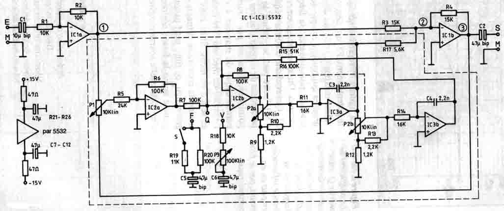 Would like some opinions on that parametric EQ schematic